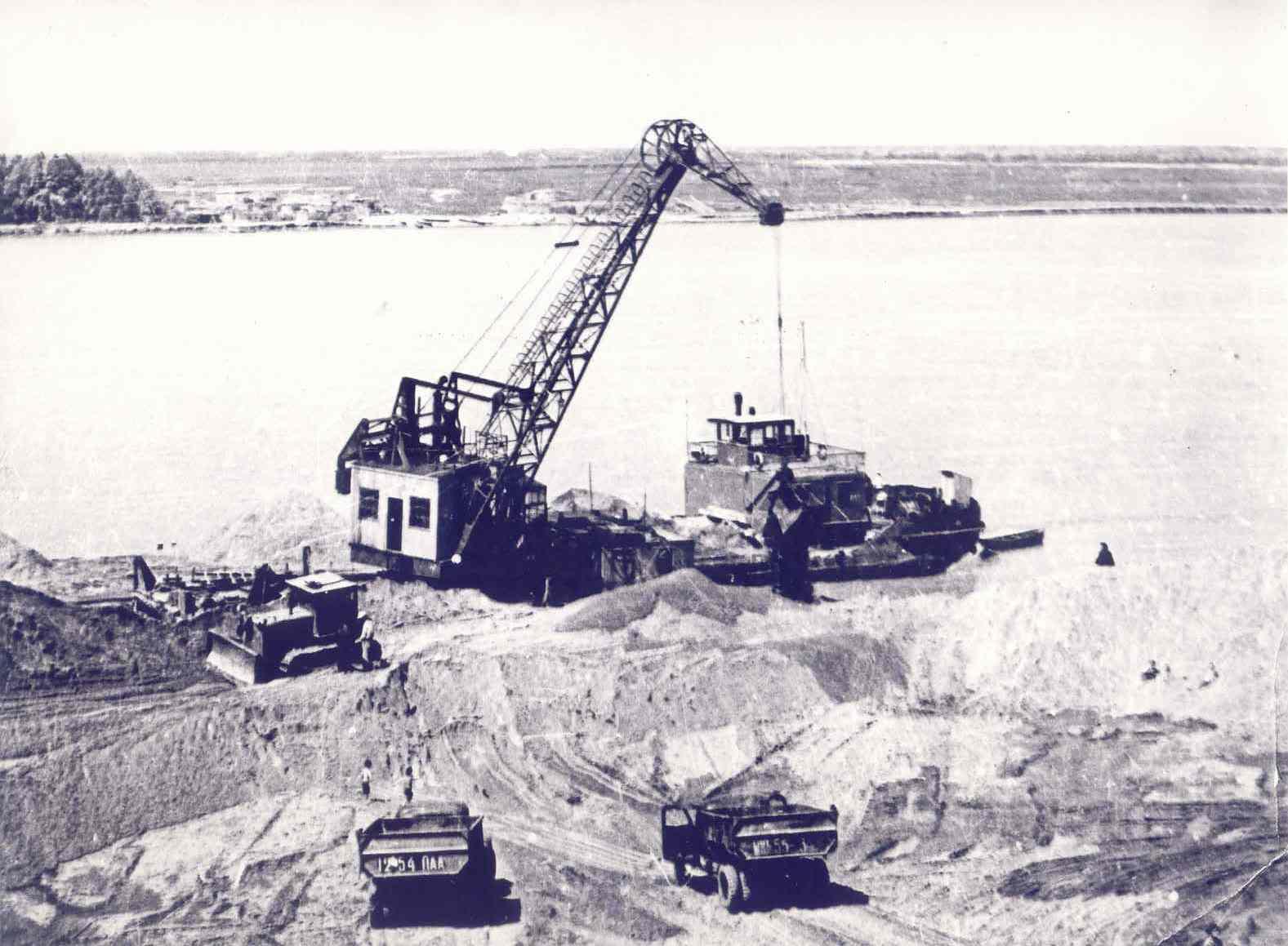 Строительство Речного вокзала. 60-е годы